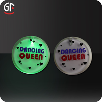 Good Sales Item Multi-color Light Flashing Badge Pin For Concert