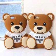 teddy bear silicone case soft silicone case for iphone 4/5/6/6plus