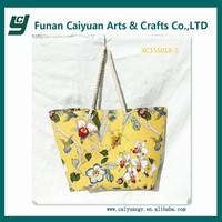 Fashional and cheap ladies canvas handbag