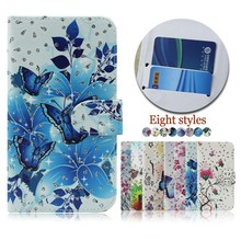 Flower Butterfly Pattern Flip Leather Cell Phone Case Cover for BLU NEO 4.5/S330L