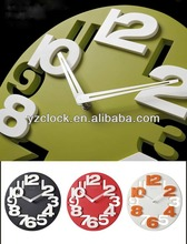 hot selling 12 inch 3D home decorative wall clock