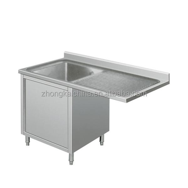 026 _.jpg ...  sc 1 st  Alibaba & Metal Kitchen Sink Base Cabinet/stainless Steel Kitchen Sink Cabinet ...