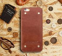 QIALINO Extreme Thin High-End For Iphone 6 Genuine Leather Wallet Phone Case Custom Logo