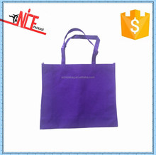 recyclable promotional cheap purple non woven shopping bag