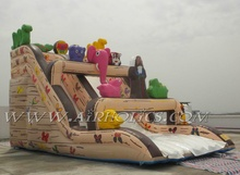 large adult size inflatable water slide with pool, jumbo water slide inflatable
