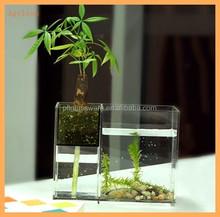 Modern Ddesign Clear Acrylic plastic square Aquarium Fish Tank For Home Hotel Decrative