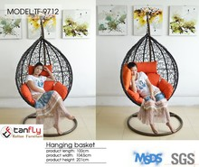 Outdoor Furniture Rattan Hanging Egg Pod Chair Special Garden Swing chair.