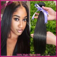 3PCS Lot Natural Color Silky Straight Wave Hair Unprocessed Virgin Peruvian Straight Hair