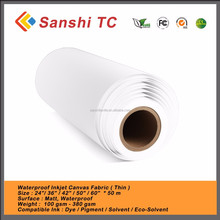 100% Waterproof artists Polyester Blend Digital Blank Inkjet Canvas Printing for Wholesale