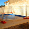 Isolation sheet metal temporary fence panel