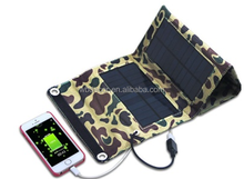 Powerful 7w foldable portable solar charger for mobile phone ipad and tablet