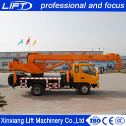 Hydraulic crane manufacturers telescopic boom truck and crane with 28m arm with heavy load capacity in low price
