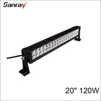 7600lm waterproof atv suv truck 120w led bar lights for agricultural car