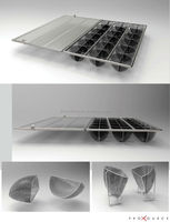 stainless steel 316L tray with filter cover
