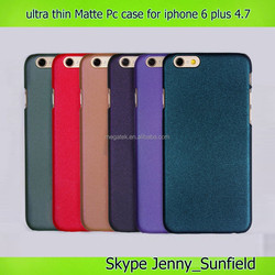 Ultra thin color matte pc case for iphone 6 plus 4.7, for iphone 6 plus case ultra thin pc