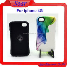 New product PC +Silicon combo cover case for iphone 4G