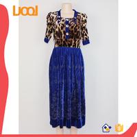 Non inverted velvet Indian heavy fancy dress blue color