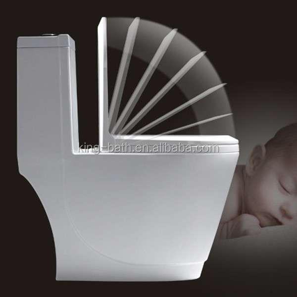 Bathroom Ceramic One Piece Toilet, Sanitary ware hot sale cheap wc siphonic toilet