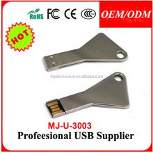 Brushed metal simulation latchkey USB key business enterprise custom gifts 4GB 8GB 16GB 32GB 2.0 USB Flash Drive Memory Card