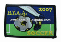 SOCCER FOOTBALL CLUB BADGE EMBRODIERED PATCH JEANS JACKET