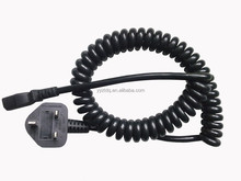 coiled cable extension lead