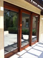 Aluminum door profile 3 panel/triple sliding glass door