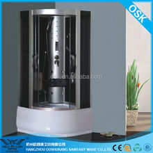 Hangzhou manufacture rectangle sliding complete tempered glass fine massage shower room for home