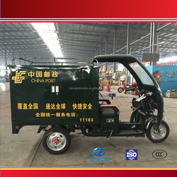 LUOYANG 3 wheel motor tricycle with closed body for sale