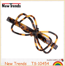 High quality nice tortoise girl butterfly hair clips
