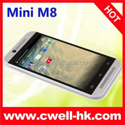 4.5 Inch IPS Screen 3G Mini M8 WIFI 1.3ghz cpu mt6572 dual core unlocked android cell phone