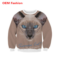Digital sublimation colorful sweaters without hoods