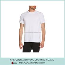 Plain White UV-Protective Bamboo Basic T Shirts For Man