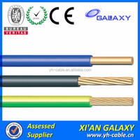 450V/750V Flexible Stranded PVC Single core copper insulated copper electric wire