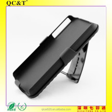 High Quality 2 in 1 Belt Clip Detachable Holster Combo PC Hard Case For Apple iPhone 4 with Kickstand