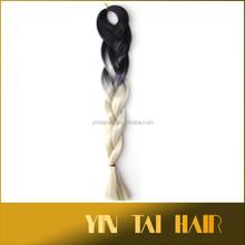 Super Jumbo Ultra Braids Kanekalon Expression Briding Hair 60 Cm 100 G Blakc&Beige/Beige&Grey/Black&Grey/Brown&Beige