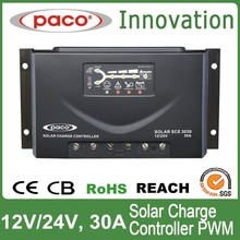 30 amp Solar Charge Controller 12v/24v Outback Charge Controller with Four outlets