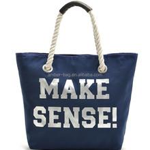 stripe canvas bag 2015 leisure shopping bag