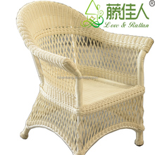White All Weather Outdoor Indoor Garden Lowes Resin PVC Poly Rattan Wicker Patio Furniture Love Seat Sofa Chair