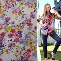 Online shop alibaba digital printing shirt on chiffon