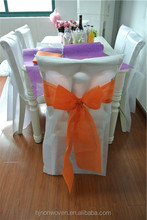 Beautiful non-woven chair cover hotel decoration wedding decoration material