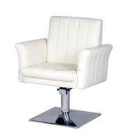 2015 Durable Portable white hairdressing chair for sale;Hot sale barber chair with aquare base