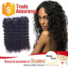 Sew in machine weft Brazilian 100% virgin deep wave human hair afro 10 inch