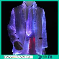 2015 newest attractive unique design fiber optic glitter men suit