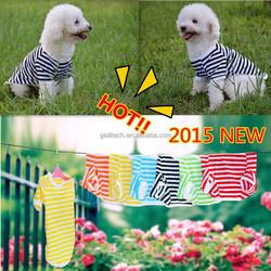 Leisure Pet Dog Classic Wide Stripes T-shirt Doggy Clothes Cotton Shirts Dog Summer Vest