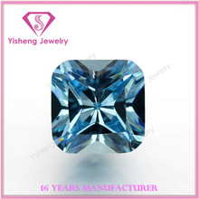 AAA Square Diamond Cut Artificial Gem Stone Blue Zircon
