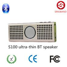 hot new products Ultra Thin Aluminium alloy portable TF card bluetooth speaker , wireless portable speaker