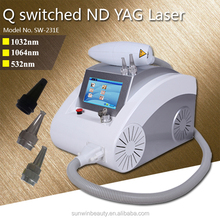 portable laser tattoo removal 2000mj and freckle removal