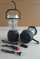 36 LED camping solar crank with bracket rechargeable lantern