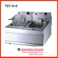 2x8L Electric Chicken Deep Fryer Machine/Deep Fryer For Fried Chicken/Electric Deep Fat Fryer