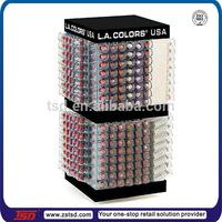 TSD-A238 factory acrylic rotating lipstick display stand/ custom acrylic cosmetic pencil display/ PMMA nail polish display box